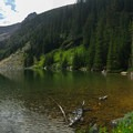Busy Lake Agnes shore.- Lake Agnes + The Beehive Hike
