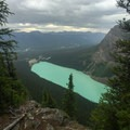 View of Lake Louise from near the top of the Beehive.- Lake Agnes + The Beehive Hike
