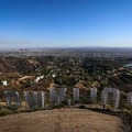 The hike's end overlooking the Hollywood Sign and much of the Los Angeles metro area.- Hollywood Sign via Hollyridge Trail