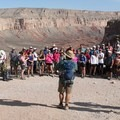 A briefing at the Hualapai Hilltop Trailhead before the 9.5-mile hike down into the Grand Canyon.- Mooney + Beaver Falls Hike from Supai