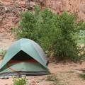 Tents along Havasu Creek.- Mooney + Beaver Falls Hike from Supai
