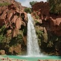 Havasu Falls is just a short walk from the campsite.- Mooney + Beaver Falls Hike from Supai