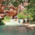 The hike to Beaver falls is 3 miles from the Havasupai Campground.- Mooney + Beaver Falls Hike from Supai