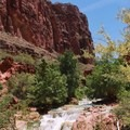 Beaver Falls above the confluence with the Colorado River.- Mooney + Beaver Falls Hike from Supai