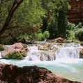 The hike to Beaver Falls from the campground is a 3-mile out and back...so the trail leads back through Havasu Creek.- Mooney + Beaver Falls Hike from Supai