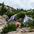 White Falls is a short detour of the main trail.- McCullough Gulch Trail