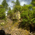 Rock formation along the Jobs Garden Trail in the Umpqua National Forest.- Fall Creek Falls National Recreation Trail