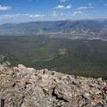 Hikers on Buffalo Mountain.- Buffalo Cabin + Buffalo Mountain Hike