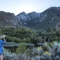 Waiting for the sun to peek from behind the cirque. - Bells Canyon Trail Hike