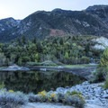 The lake is actually Lower Bell's Canyon Resrvoir, a watershed for Salt Lake County.- Bells Canyon Trail Hike
