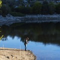 Doing some morning catch and release.- Bells Canyon Trail Hike