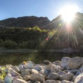 Sunrise on the Bell's Canyon Hike.- Bells Canyon Trail Hike