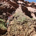 Hikers making the descent.- Mooney + Beaver Falls Hike from Supai