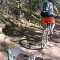 The trail can be crowded on the weekends.- Bakers Tank Mountain Bike Ride