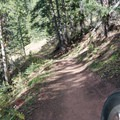 Last part of the trail before the tank.- Bakers Tank Mountain Bike Ride