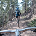 Plenty of friendly riders on this path.- Bakers Tank Mountain Bike Ride