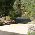 Boat launch in Boulder Flat Campground.- Boulder Flat Campground