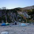 Camping by the lake.- Saint Mary's Glacier + Saint Mary's Lake