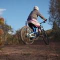 Trail marker.- Road to Arcylon Freeride Mountain Bike Trail