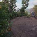 Bermed s-turns.- Road to Arcylon Freeride Mountain Bike Trail