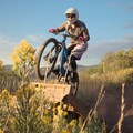 Wood features.- Road to Arcylon Freeride Mountain Bike Trail