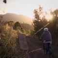 Easy ride-around.- Road to Arcylon Freeride Mountain Bike Trail