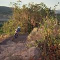 Bermed turn.- Road to Arcylon Freeride Mountain Bike Trail