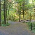Pull-through campsite in Eagle Rock Campground.- Eagle Rock Campground