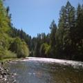 Views of the North Umpqua River from Eagle Rock Campground.- Eagle Rock Campground