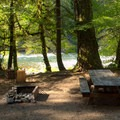 Riverside campsite in Eagle Rock Campground.- Eagle Rock Campground