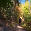 Start of the climb.- Wardsworth Creek Mountain Bike Loop to Dry Fork Canyon