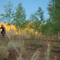 Riding on the Wardsworth Creek Trail.- Wardsworth Creek Mountain Bike Loop to Dry Fork Canyon