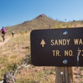 The sand here is really pea-sized granite.- Sandy Wash Mountain Bike Ride
