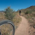 Sandy Wash at the Buffalo Creek Recreation Area.- Sandy Wash Mountain Bike Ride
