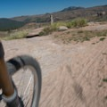 Speed is your friend everywhere here.- Sandy Wash Mountain Bike Ride