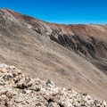 The section below the false summit is the steepest part.- Mount Democrat