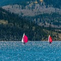 Sailboats are common on the reservoir.- Dillon Reservoir Recpath