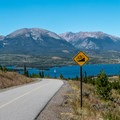 Wonderful views of the lake from the path.- Dillon Reservoir Recpath