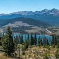 Near the high point of the path.- Dillon Reservoir Recpath