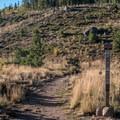 Trailhead to Old Dillon Reservoir.- Old Dillon Reservoir