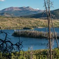 View of Dillon Lake and Quandry Peak.- Old Dillon Reservoir