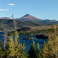 View of Dillon Lake.- Old Dillon Reservoir