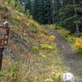 Trailhead for Nolan Lake.- Nolan Lake