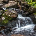 There are many cascades on the trail.- Nolan Lake