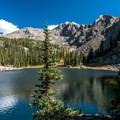 Beautiful peaks above Nolan Lake.- Nolan Lake