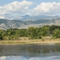 View of Colorado's Front Range from Walden Ponds.- Walden Ponds Wildlife Habitat