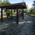 Day use picnic shelter and barbecue grill at Wally Toevs Pond, Walden Ponds.- Walden Ponds Wildlife Habitat, Wally Toevs Pond