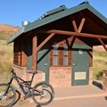 Restrooms at the Hall Ranch parking lot.- Hall Ranch: Nighthawk Trail