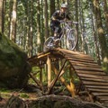 The wooden features start to get bigger and steeper.- Mount Fromme Trails: Ladies Only + Lower Ladies