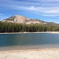 Mammoth Mountain in the background.- McLeod Lake Trail